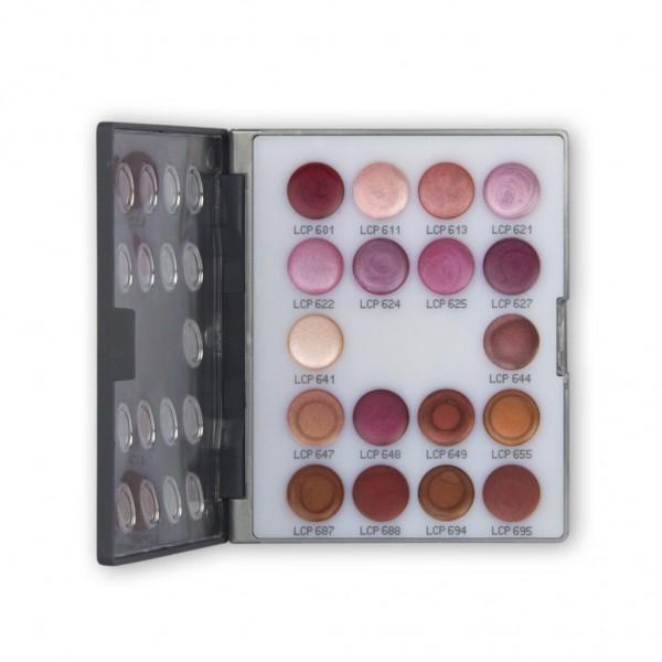 LipRouge Mini-Palette mit 18 Farben Inhalt 15 ml