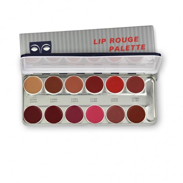 LipRouge Palette mit 12 Farben, Inhalt 40 ml