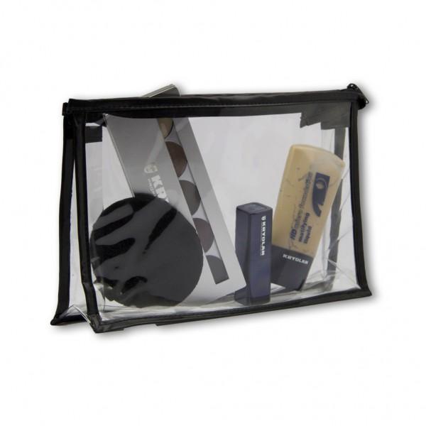 Klarsicht Kosmetik-Tasche, klein 14 x 26 cm