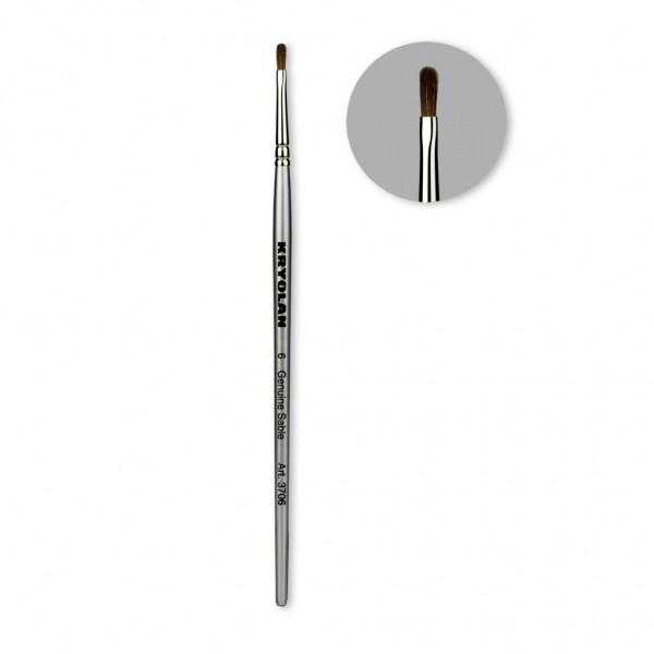 Professional Schminkpinsel katzenzungenförmig Größe 6
