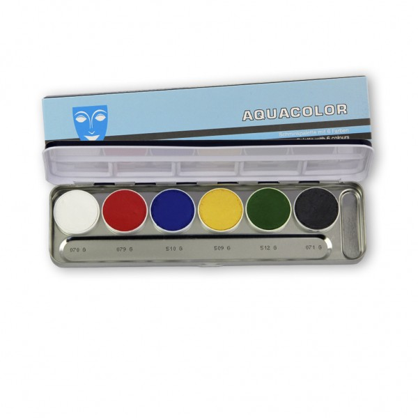 Aquacolor Palette 6 Farben Interferenz