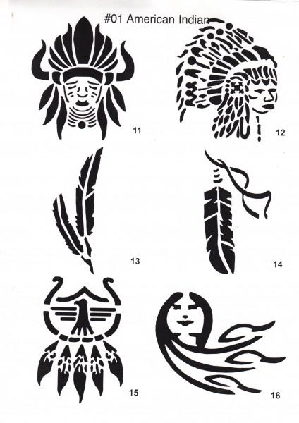 Tattoo Schablonen, 1 Bogen