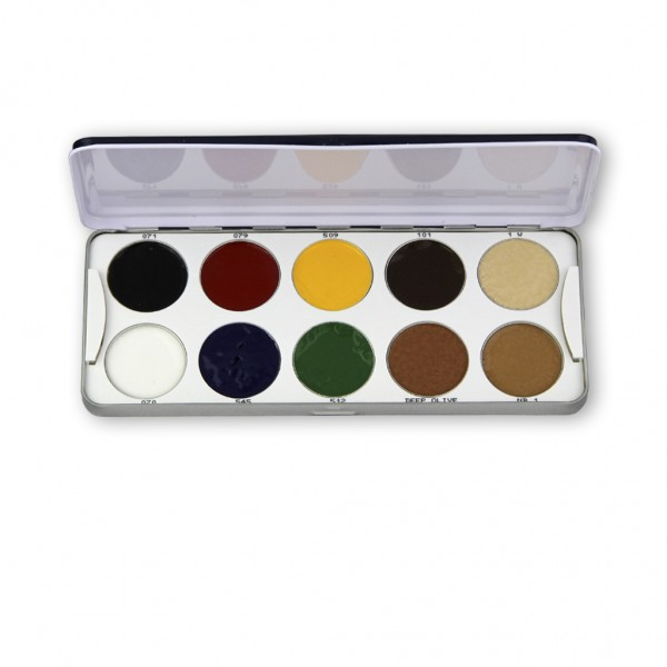 Body Illustration Make-up Color Palette 10 Farben 20g
