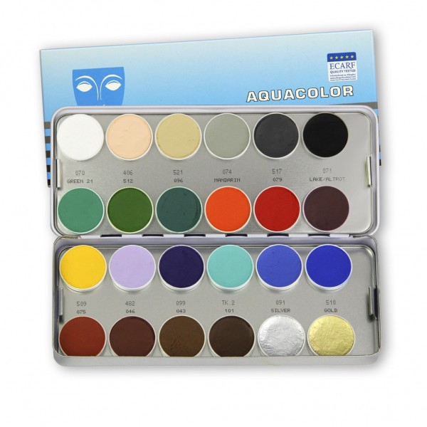 Aquacolor Palette 24 Farben