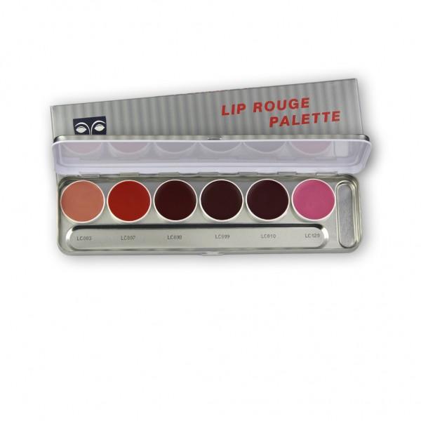 LipRouge Palette mit 6 Farben, Inhalt 20 ml