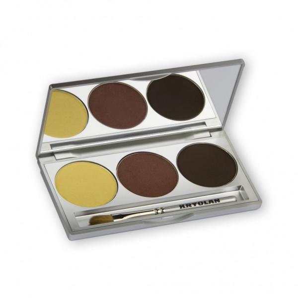 Eye Shadow Trio Set, Smokey Collection - Smokey Brown 7,5g