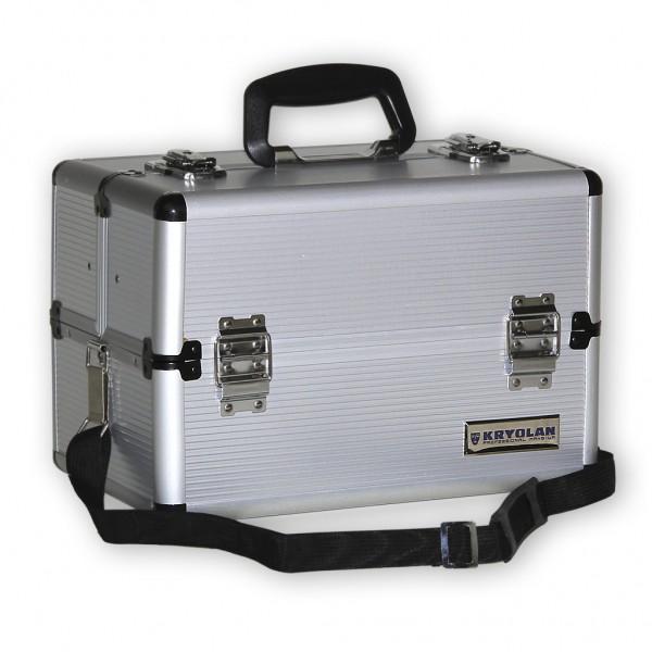 Universal-Schminkkoffer leer Aluminium 38x44x22cm