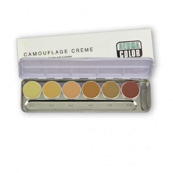 Dermacolor Camouflage Palette mit 6 Farben