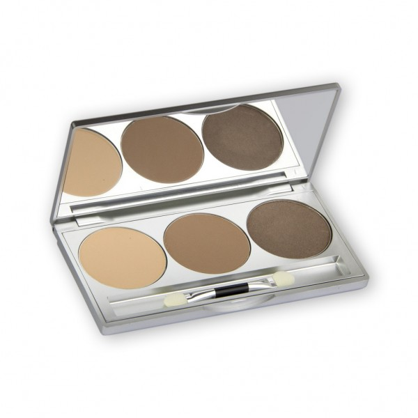 Eye Shadow Trio Set, Smokey Collection - Smokey Caramel 7,5g