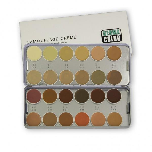 Camouflage Palette mit 24 Farben