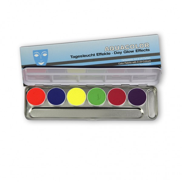 Aquacolor UV-Dayglow Palette 6 Farben