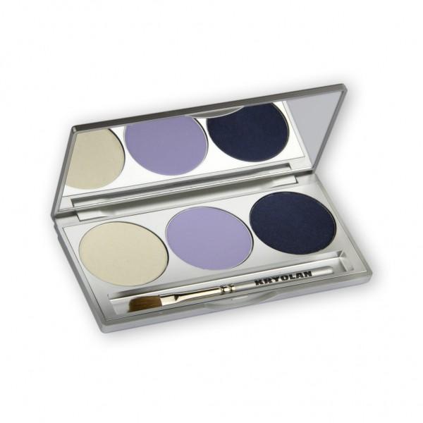 Eye Shadow Trio Set, Smokey Collection - Smokey Blue 7,5g