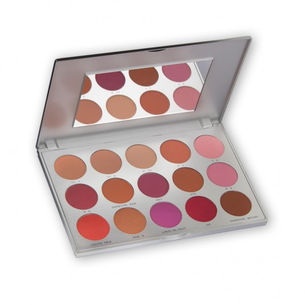 Professional Blusher Set 15 Farben