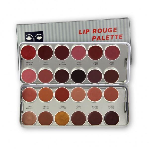 LipRouge Palette mit 24 Farben, Inhalt 80 ml