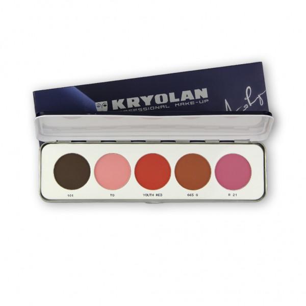 Trockenrouge Palette mit 5 Farben, Inhalt 15g