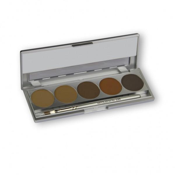 Eyebrow Powder Palette mit 5 Brauntönen 10g